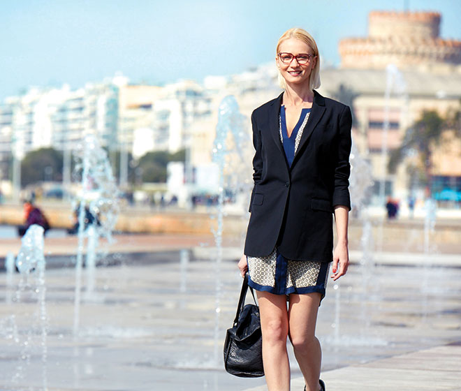 Blonde Woman in Thessaloniki
